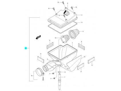 [0] Vzduchový filtr kompletní (FIG11) - Hyosung RX 125