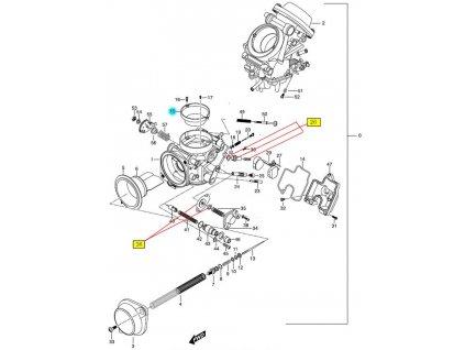 [15] Pouzdro (karburátor) - Hyosung GT 650 N