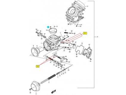 [16] Šroub (karburátor) - Hyosung GT 650 N