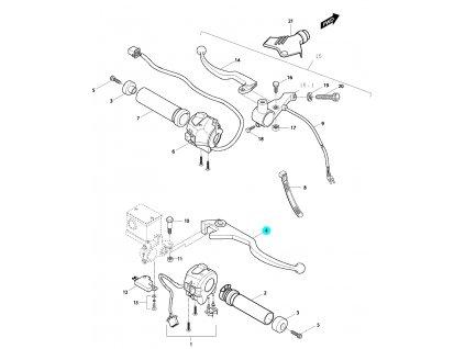 [4] Páčka přední brzdy / nová verze (FIG43) - Hyosung GV 650