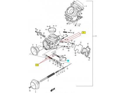 [34] Kryt (karburátor) - Hyosung GT 650 N