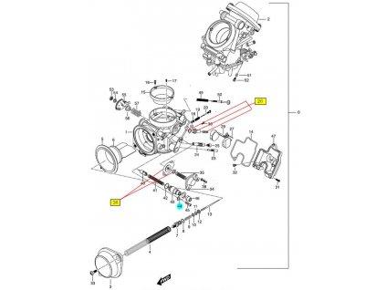 [44] Destička jistící (karburátor) - Hyosung GT 650 N
