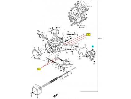 [47] Plováková komora (FIG10) - Hyosung GT 650 N