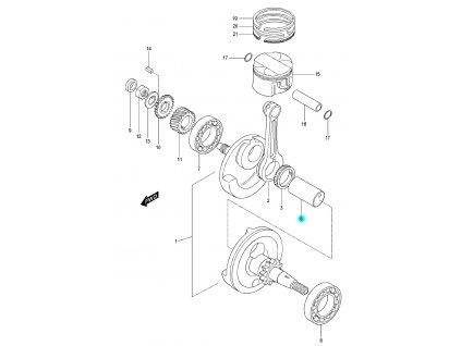 [6] Čep ojnice (FIG05) - Hyosung RX 125
