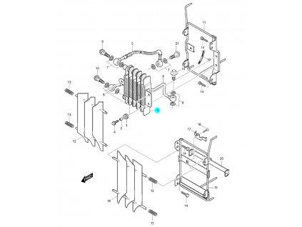 [1] Olejový chladič (FIG06) - Hyosung RX 125