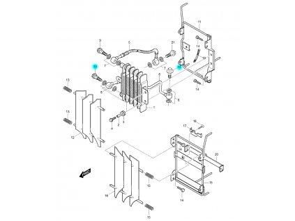 [10] Šroub průtokový (olejový chladič) - Hyosung RX 125