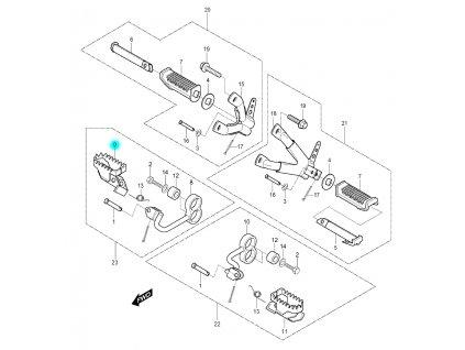 [9] Stupačka přední pravá (FIG30) - Hyosung RX 125