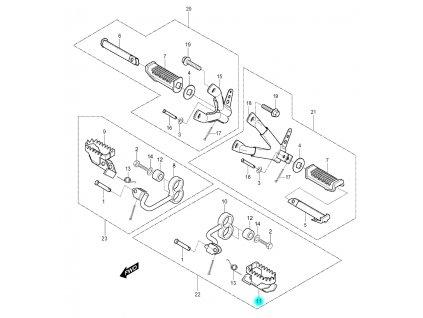 [11] Stupačka přední levá (FIG30) - Hyosung RX 125