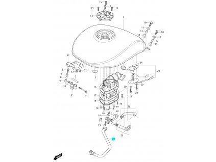 [27] Hadice vstřikování (FIG34) - Hyosung GV 650 Fi & LE30