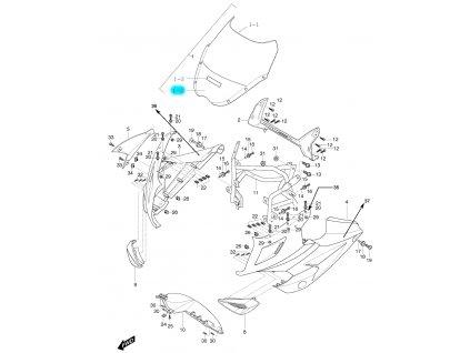[1-2] Fólie samolepící / černá (FIG48) - Hyosung GT 125 R
