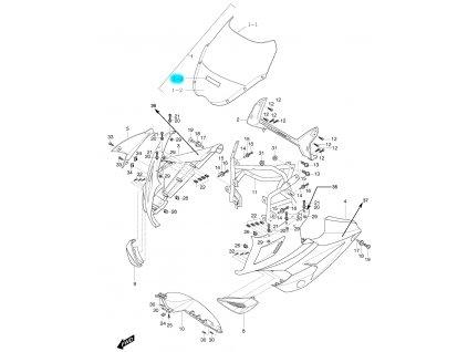 [1-3] Samolepa HYOSUNG (FIG48) - Hyosung GT 125 R