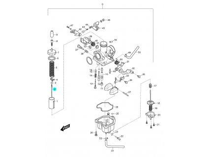 [2] Jehla (karburátor) - Hyosung RX 125