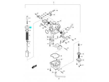 [7] Kryt (karburátor) - Hyosung RX 125
