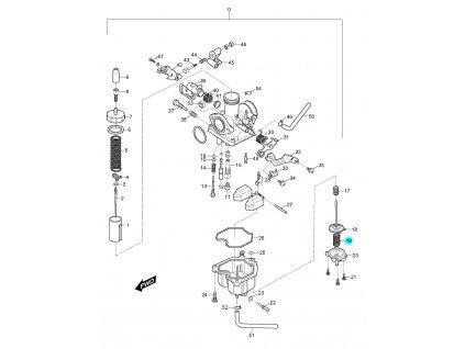 [19] Pružina (karburátor) - Hyosung RX 125
