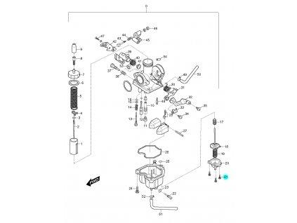 [21] Šroub (karburátor) - Hyosung RX 125
