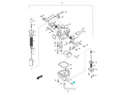 [22] Šroub vypouštěcí (karburátor) - Hyosung RX 125