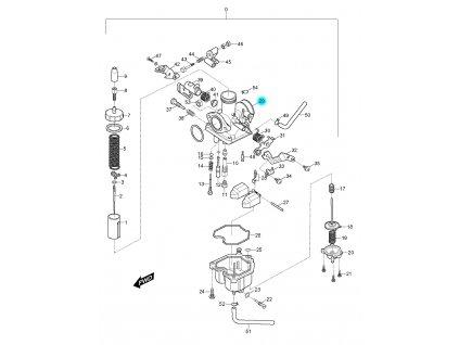 [29] Hřídel sytiče (karburátor) - Hyosung RX 125