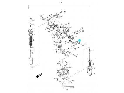 [32] Páčka sytiče (karburátor) - Hyosung RX 125