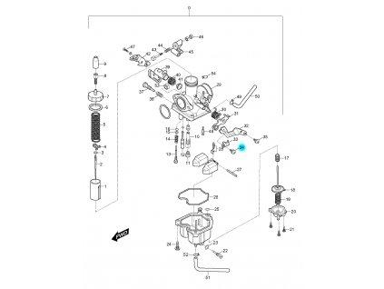 [34] Šroub (karburátor) - Hyosung RX 125