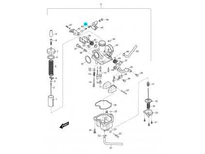 [44] Pružina (karburátor) - Hyosung RX 125