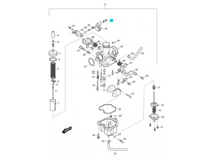 [46] Matice (karburátor) - Hyosung RX 125