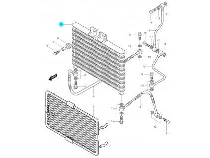 [2] Olejový chladič (olejový chladič) - Hyosung GV 250