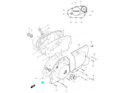 [2] Boční kryt motoru (FIG05) - Hyosung GV 250