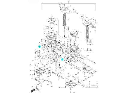 [4] Šroub (karburátor) - Hyosung GV 125