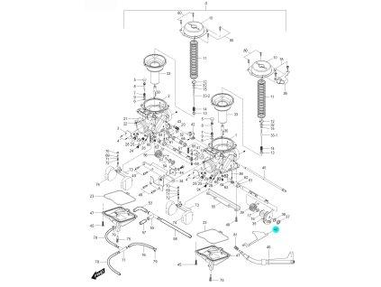 [48] Držák (karburátor) - Hyosung GV 125