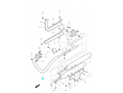 [5] Potrubí výfuku přední (výfuk) - Hyosung GV 250