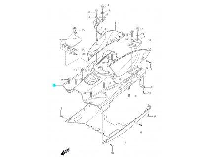 [1] Podlaha plastová / šedá (FIG27) - Hyosung SF 50 (PRIMA)