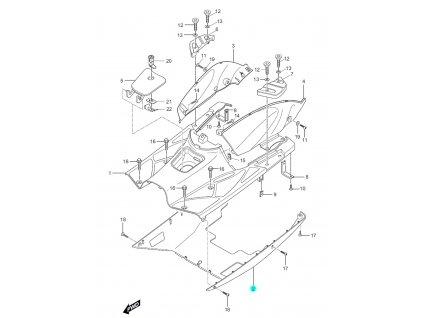 [2] Kryt spodní / šedý (FIG27) - Hyosung SF 50 (PRIMA)