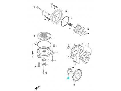 [21] Segrovka (olejové čerpadlo a filtr) - Hyosung GT 650 N