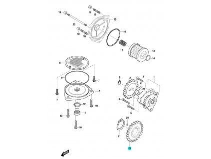 [23] Ozubené kolo (FIG14) - Hyosung GT 650 N