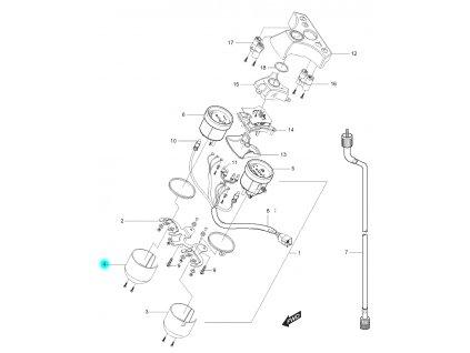[4] Kryt (tachometr) - Hyosung GT 125 N
