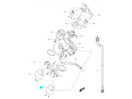 [3] Kryt (tachometr) - Hyosung GT 125 N