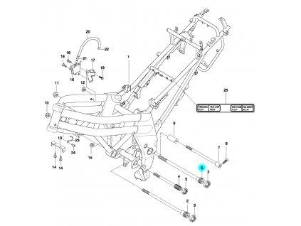 [6] Šroub (rám) - Hyosung GT 650 N