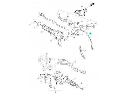 [9] Spínač spojky (FIG45) - Hyosung GT 650 S & R