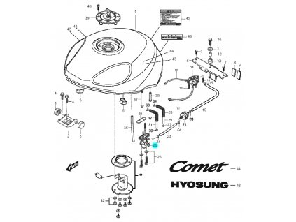 [25] Ventil palivový (FIG30) - Hyosung GT 125 N
