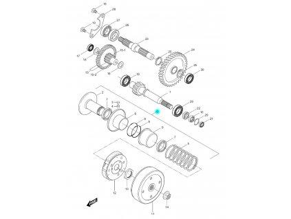 [0] Řemenice zadní kompletní (převodovka a odstředivá spojka) - Hyosung SF 50 (PRIMA)