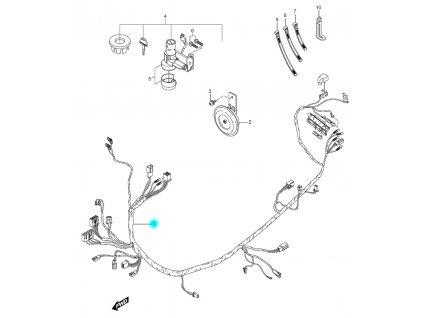 [1] Kabelový svazek (FIG19) - Hyosung SF 50 (PRIMA)