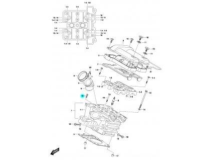 [15] Šroub (FIG01h) - Hyosung GV 650