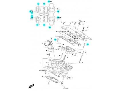 [1-4] Šroub (FIG01h) - Hyosung GV 650