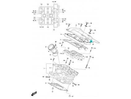 [22] Těsnící O-kroužek (hlava zadního válce) - Hyosung GV 650