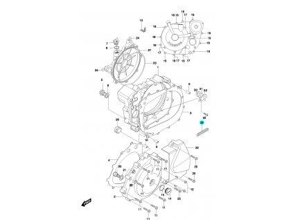 [29] Úchytka (FIG05) - Hyosung GT 650 N