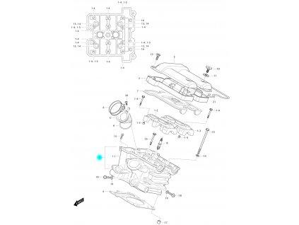 [1] Hlava válce / černá (FIG01h) - Hyosung GV 650 Fi & LE30