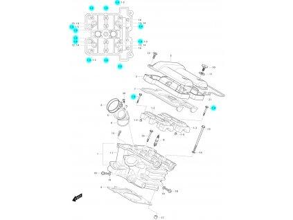 [1-4] Šroub (FIG01h) - Hyosung GV 650 Fi & LE30