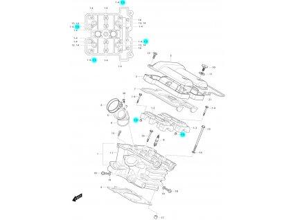 [1-5] Pouzdro (hlava zadního válce) - Hyosung GV 650 Fi & LE30