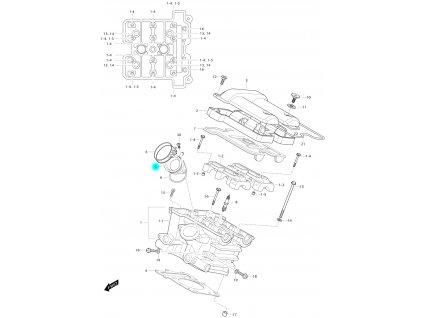 [5] Příruba sání (FIG01h) - Hyosung GV 650 Fi & LE30