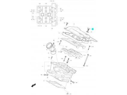 [10] Šroub (hlava zadního válce) - Hyosung GV 650 Fi & LE30